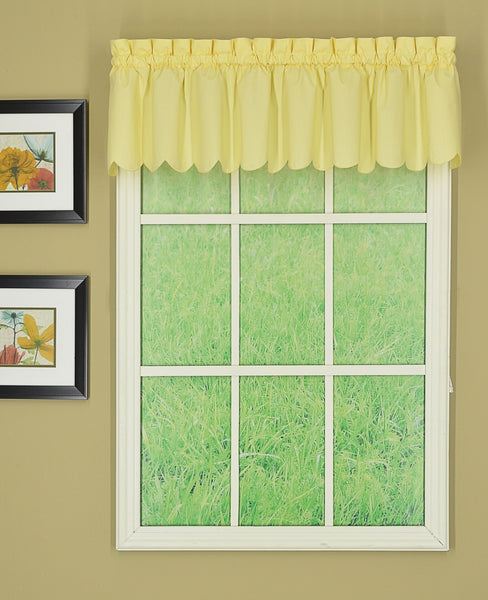 Orleans Rod Pocket Tier / Swag / Valance - Valance 060x012 Buttercup C31942- Marburn Curtains