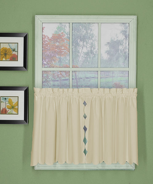 Orleans Rod Pocket Tier / Swag / Valance - Tier 060x024 Ecru C31950- Marburn Curtains
