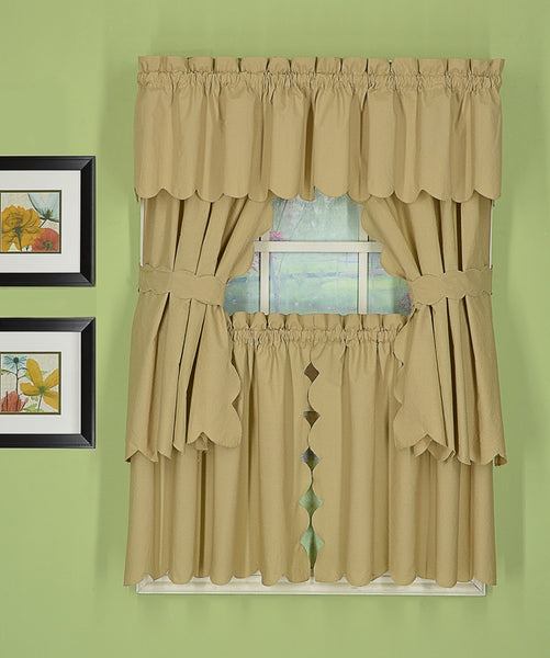 Orleans Rod Pocket Tier / Swag / Valance - Tier   060x030 Linen C31958- Marburn Curtains