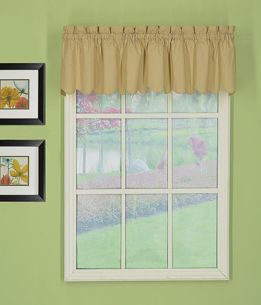 Orleans Rod Pocket Tier / Swag / Valance - Valance 060x012 Linen C31944- Marburn Curtains