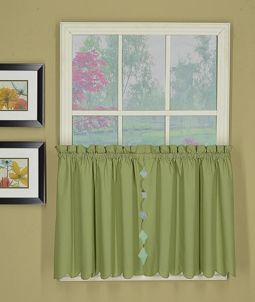 Orleans Rod Pocket Tier / Swag / Valance - Tier 060x024 Sage C31952- Marburn Curtains