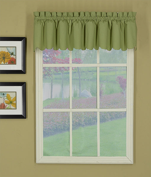 Orleans Rod Pocket Tier / Swag / Valance - Valance 060x012 Sage C31945- Marburn Curtains