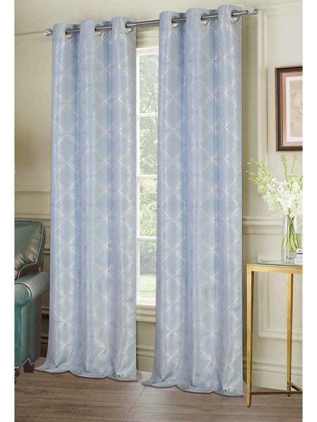 Chandler Grommet Panel PAIR - Panel Pair   074x063 Aquamarine C40947- Marburn Curtains