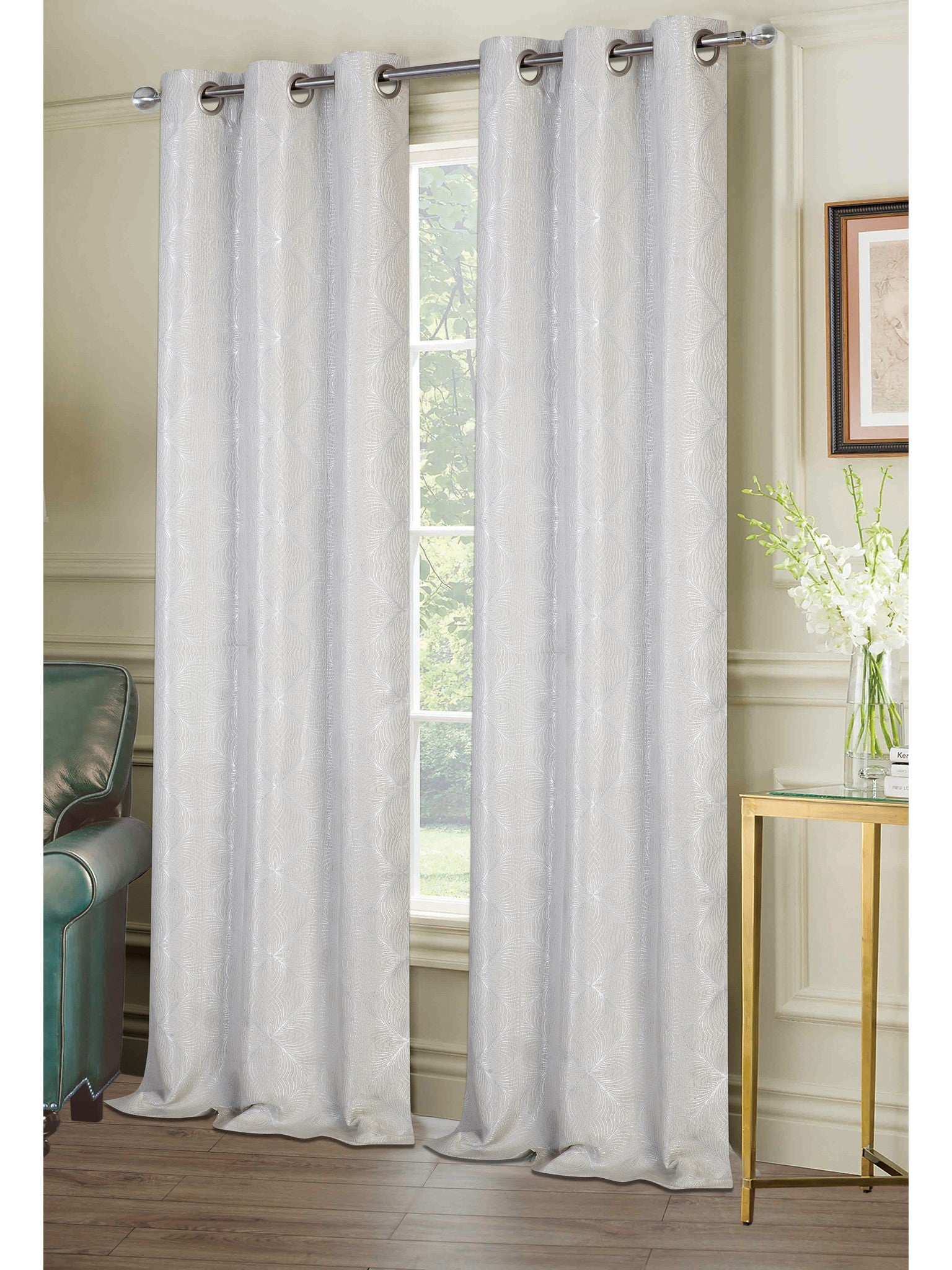 Chandler Grommet Panel PAIR - Panel Pair   074x063 Linen C40948- Marburn Curtains