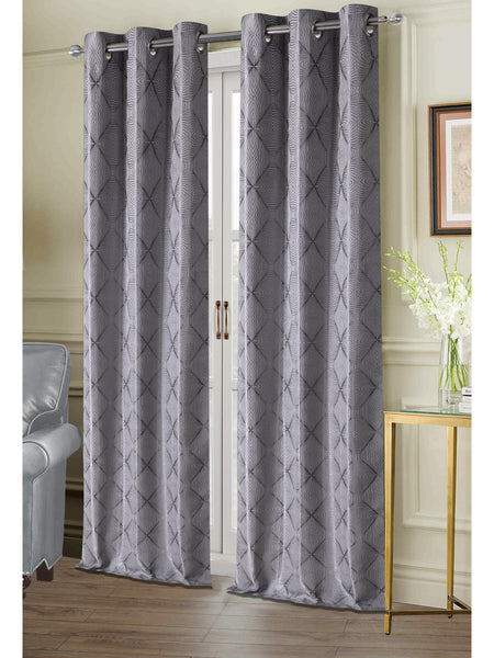 Chandler Grommet Panel PAIR - Panel Pair   074x063 Silver C40949- Marburn Curtains