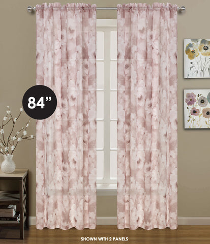 "Clouds Rod Pocket Panel 84"" - 054x084   Blush C44109- Marburn Curtains"