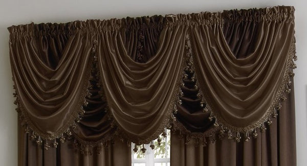 Hilton Rod Pocket Panel/Waterfall Valance - - Marburn Curtains