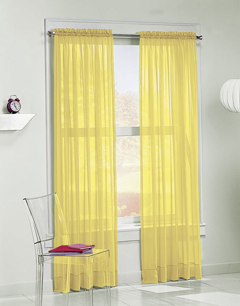 Calypso Sheer Panel - 059x063 Lemon C32033- Marburn Curtains