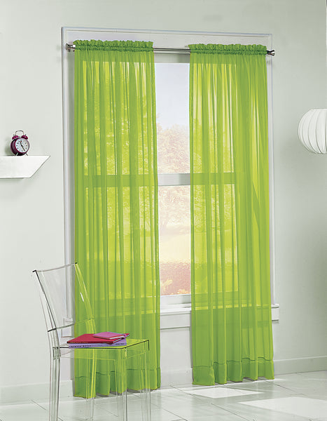 Calypso Sheer Panel - 059x063 Lime C32034- Marburn Curtains