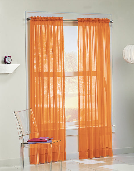 Calypso Sheer Panel - 059x063 Orange C32035- Marburn Curtains