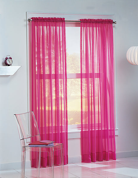 Calypso Sheer Panel - 059x063 Pink C32036- Marburn Curtains