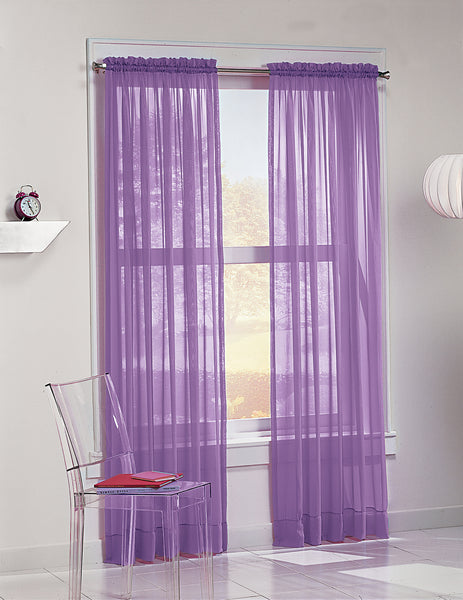 Calypso Sheer Panel - 059x063 Purple C32037- Marburn Curtains