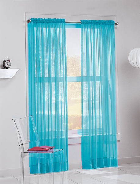 Calypso Sheer Panel - 059x063 Sky C32038- Marburn Curtains