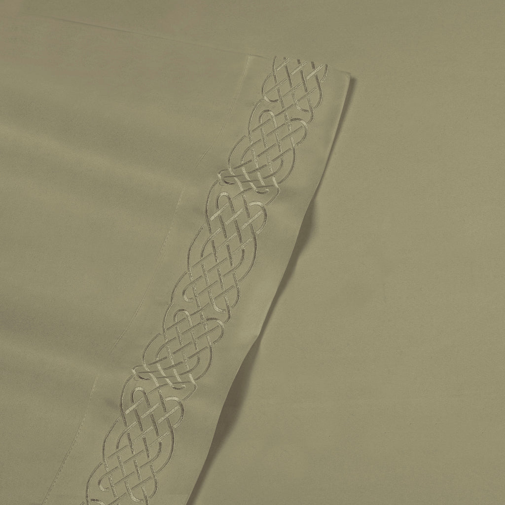 Love Knot Embroidered Microfiber Sheet Set