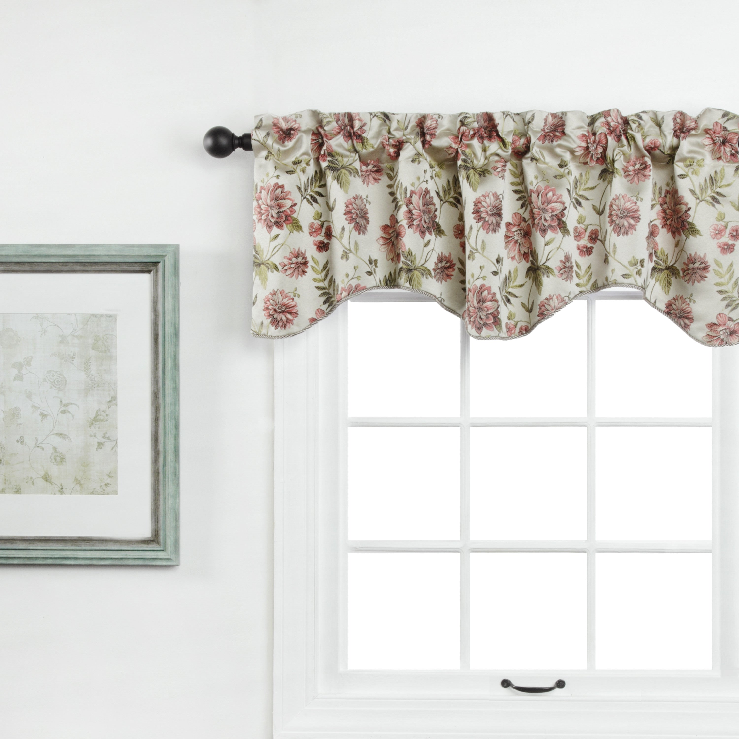 Dahlia Rod Pocket Lined Scalloped Valance