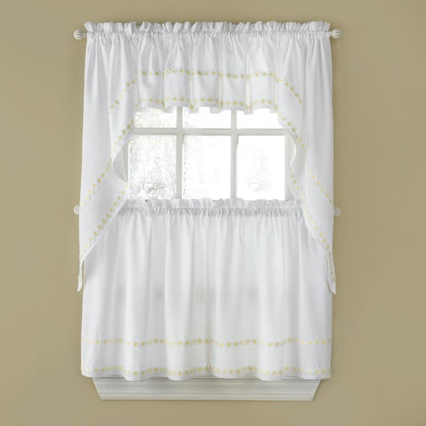 Daisy Mae Embroidered Swag - - Marburn Curtains