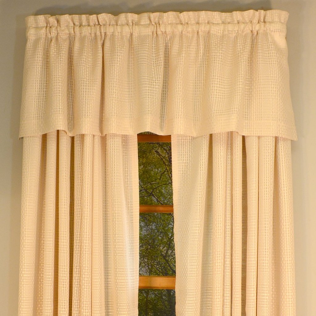 Durness Rod Pocket Valance - Valance  056x014 Alabaster C39547- Marburn Curtains
