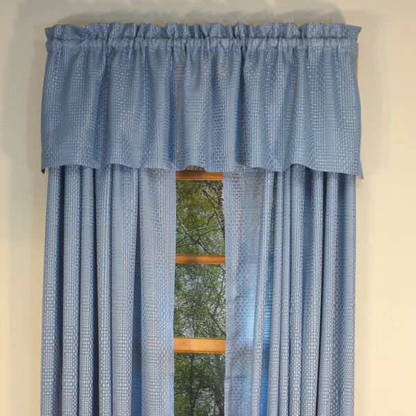 Durness Rod Pocket Valance - Valance  056x014 River C39549- Marburn Curtains