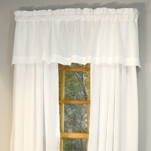 Durness Rod Pocket Valance - Valance  056x014 Soft White C39548- Marburn Curtains