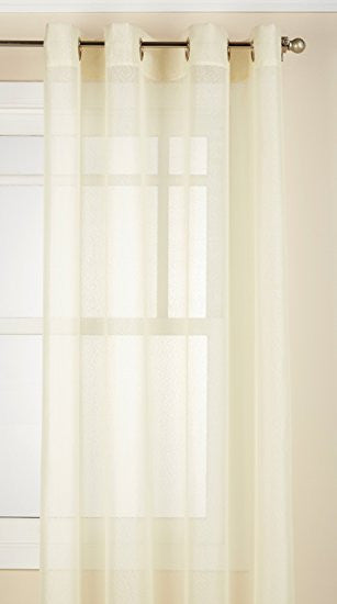 Reverie Rod Pocket Semi-Sheer Snow Voile Panel Collection - Panel  060x063 Eggshell C33463- Marburn Curtains