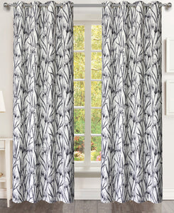 Enchanted Garden Grommet Panel - 054x084 Silver C45255- Marburn Curtains