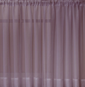 Emelia Sheer Ascot Dbl Layer Valance - 040x025 Amethyst C34994- Marburn Curtains