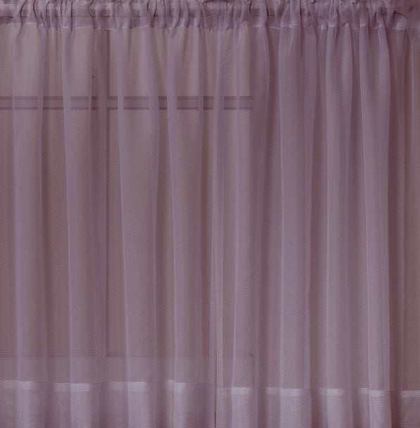 Emelia Sheer Rod Pocket Swag Valance - 060x038 Amethyst C31793- Marburn Curtains