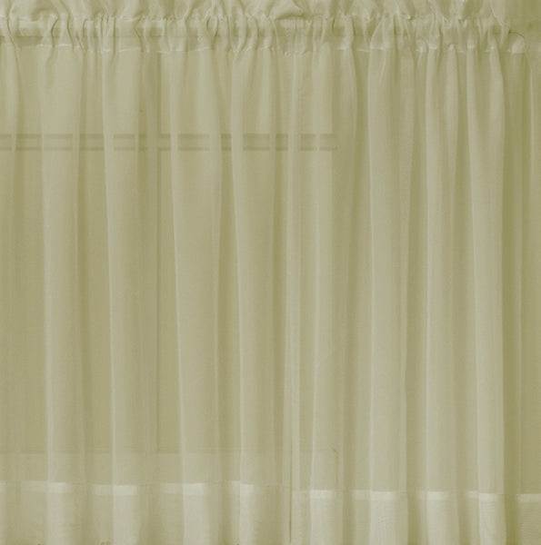 Emelia Sheer Rod Pocket Tier - 060x024 Dusty Leaf C31334- Marburn Curtains