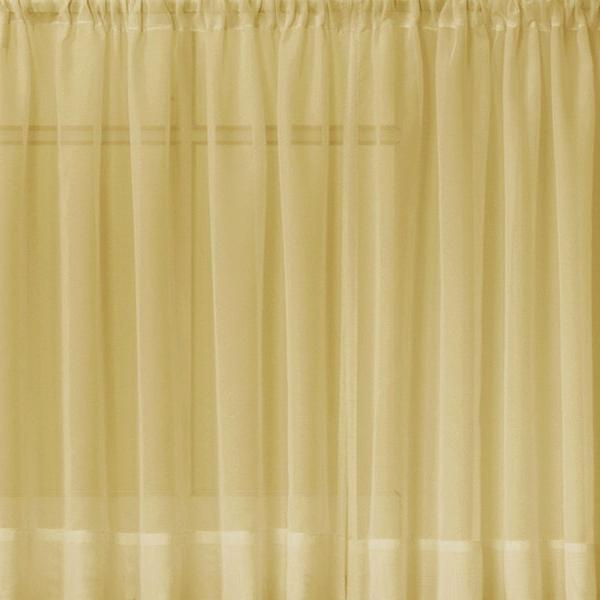 Emelia Sheer Voile Rod Pocket Swagger - 090x063 Gold C31929- Marburn Curtains