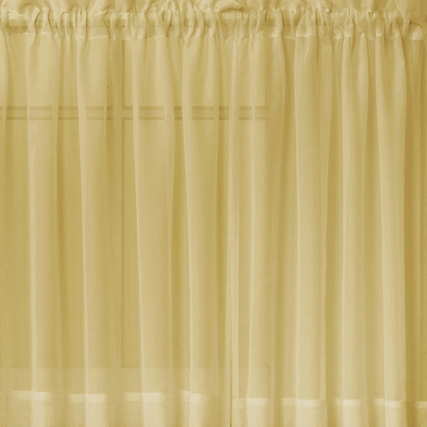 Emelia Sheer Rod Pocket Swag Valance - 060x038 Gold C31798- Marburn Curtains