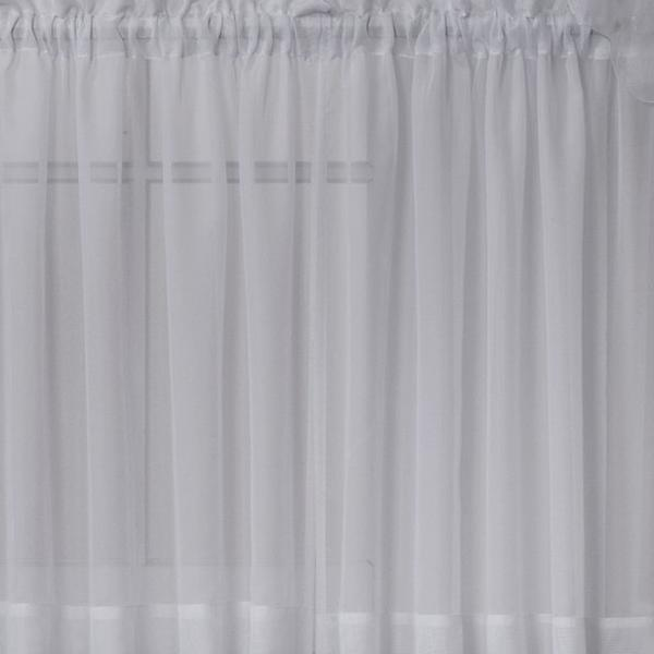 Emelia Sheer Voile Rod Pocket Swagger - 090x063 Grey C31930- Marburn Curtains