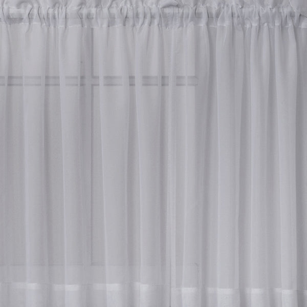 Emelia Sheer Rod Pocket Tier - 060x024 Grey C31337- Marburn Curtains