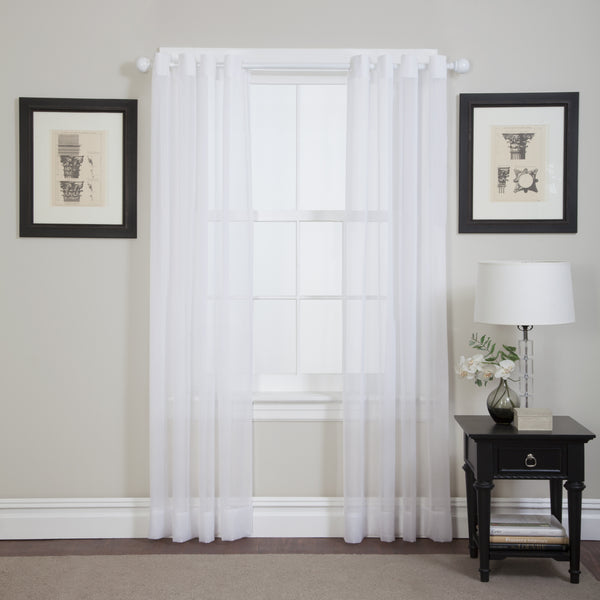 Emelia Sheer Grommet Panel - 059x084 White C26925- Marburn Curtains