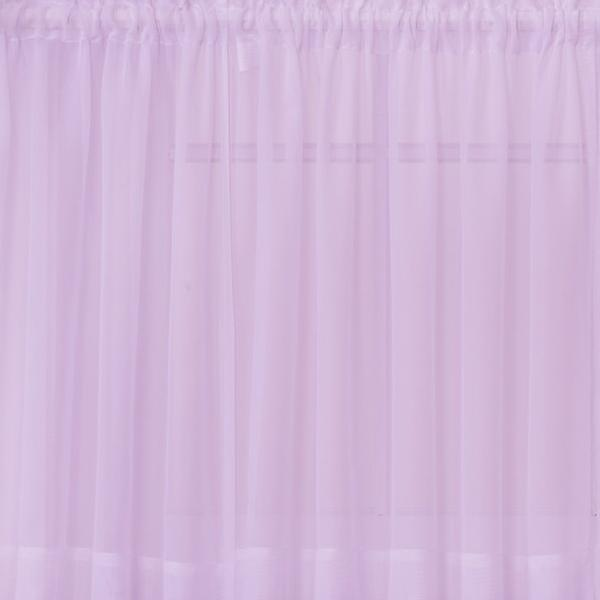 Emelia Sheer Voile Rod Pocket Swagger - 090x063 Lt. Lilac C31931- Marburn Curtains