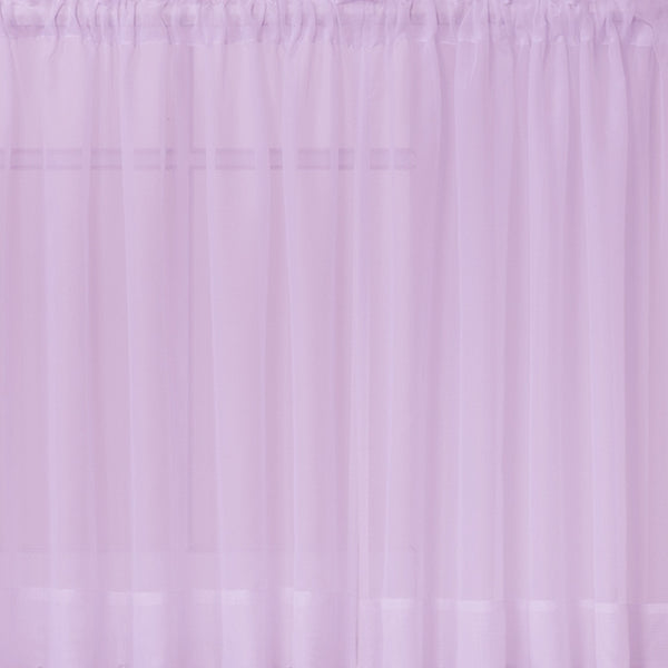 Emelia Sheer Rod Pocket Tier - 060x024 Lt. Lilac C31338- Marburn Curtains