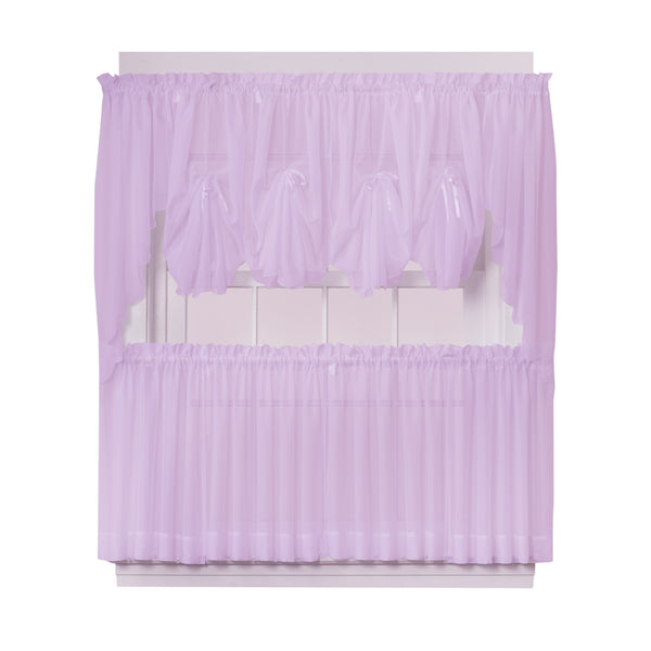 Emelia Sheer Rod Pocket Fan Swag - 030x040 Lt. Lilac C30629- Marburn Curtains