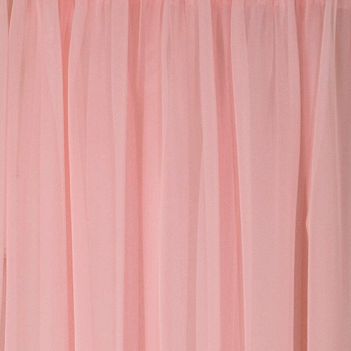Emelia Sheer Rod Pocket Tier - 060x024 Rose C31341- Marburn Curtains