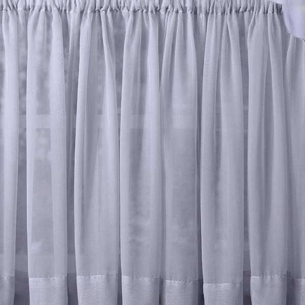 Emelia Sheer Voile Rod Pocket Swagger - 090x063 Sky Blue C31936- Marburn Curtains