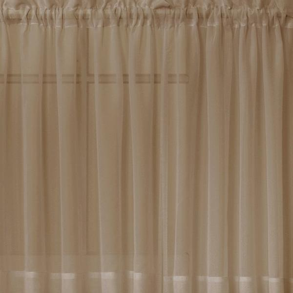 Emelia Sheer Voile Rod Pocket Swagger - 090x063 Taupe C31937- Marburn Curtains