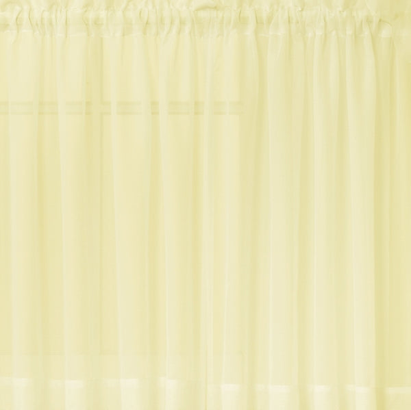 Emelia Sheer Rod Pocket Tier - 060x024 Yellow C31346- Marburn Curtains