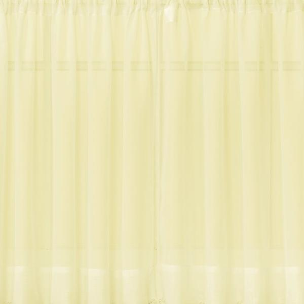 Emelia Sheer Voile Rod Pocket Swagger - 090x063 Yellow C31939- Marburn Curtains