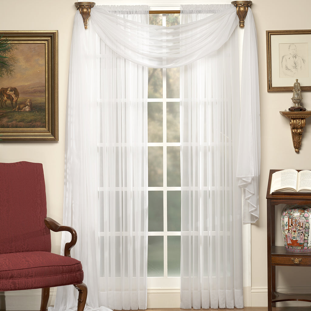Emelia Sheer Voile Tailored Panel
