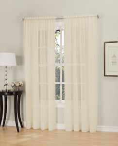 Erica Semi-Sheer Crushed Voile Rod Pocket Panel - Panel 051x063 Antique C32095- Marburn Curtains
