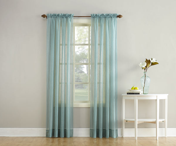 Erica Semi-Sheer Crushed Voile Rod Pocket Panel - Panel 051x063 Mineral C32100- Marburn Curtains