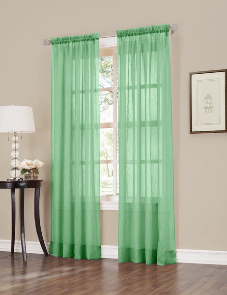 Erica Semi-Sheer Crushed Voile Rod Pocket Panel - Panel 051x084 Sage C32111- Marburn Curtains