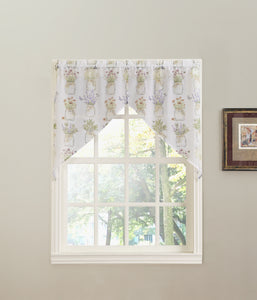 Eves Garden Tier/Swag/Valance - Swag 054x038 White C37140- Marburn Curtains