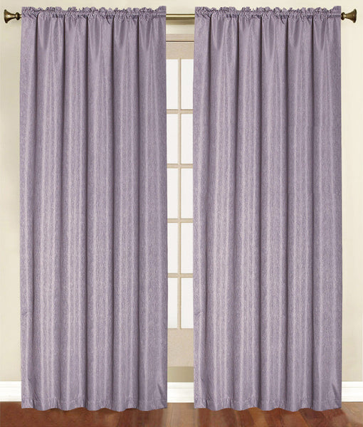 Felicity Foamback Rod Pocket Panel/Valance - Panel   054x084 Purple C41286- Marburn Curtains