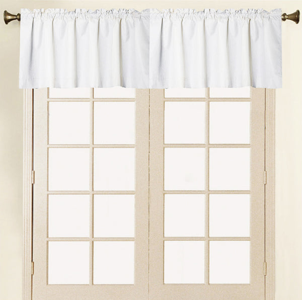 Felicity Foamback Rod Pocket Panel/Valance - Valance 052x017 Ivory C41292- Marburn Curtains