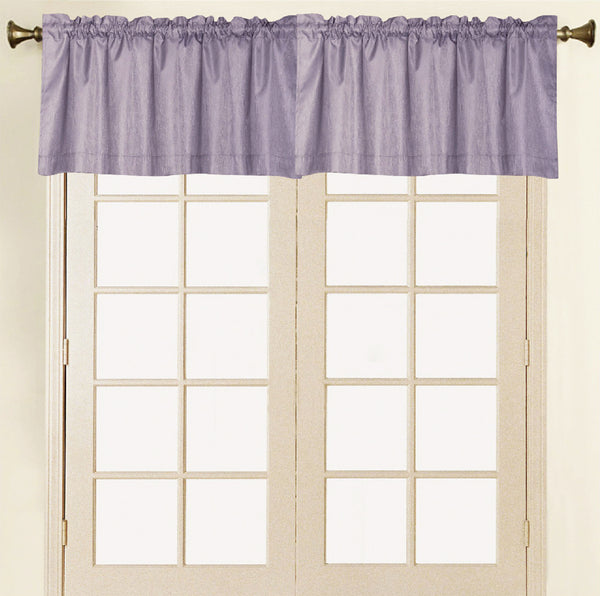 Felicity Foamback Rod Pocket Panel/Valance - Valance 052x017 Purple C41291- Marburn Curtains