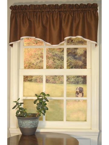 Franklin Rod Pocket M Valance - Valance  056x015 Chocolate C37093- Marburn Curtains